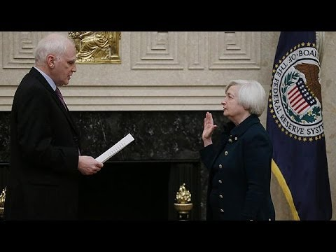 Janet Yellen sworn in as first woman to chair US Federal Reserve