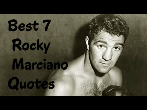 Best 7 Rocky Marciano Quotes -The American professional ...