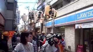磐井神社祭禮 大人神輿連合渡御@平和島駅前 2014年8月3日