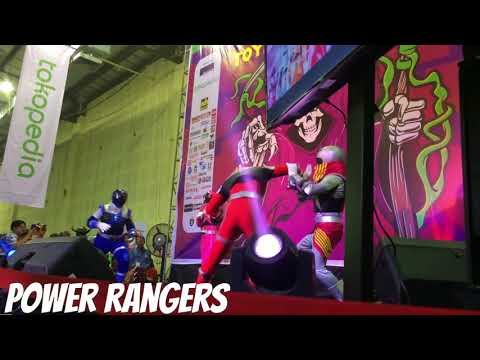 Abang isam nonton power rangers - the jakarta toys & comic fair 2018