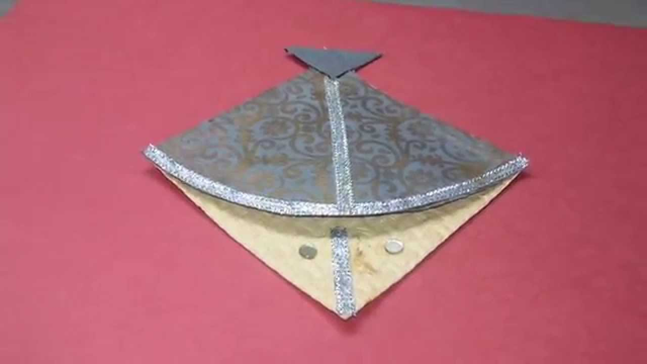 Diy hand made decorative envelope kite style enve youtube for Decoration kite