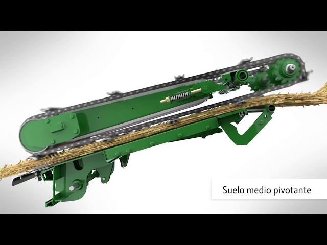 John Deere Cosechadora S700 animación completa del flujo del cultivo