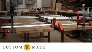 How a Custom Rustic Farm Table Is Made - CustomMade Woodworker Richard Oedel