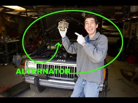 how to change an alternator jeep 4 0l straight 6 youtube rh youtube com Jeep Wrangler Alternator Wiring Diagram 3 Wire Alternator Wiring