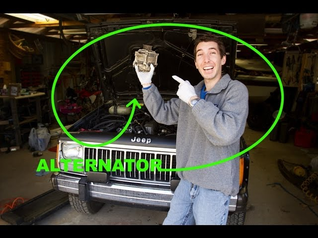 how to change an alternator  jeep 40l straight 6  youtube