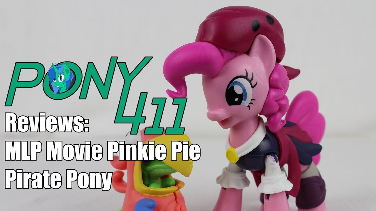 Pinkie Pie /& Parrot Guardians Of Harmony Pirate My Little Pony The Movie