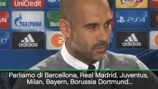 "Guardiola: ""City, impara da Juve, Milan e Inter"" - Serie A TIM 2016/17"