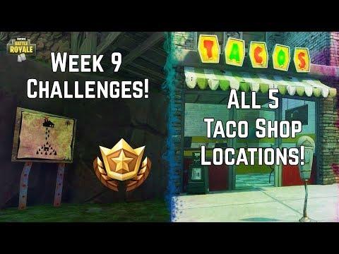Cinematic Series: Week 9 - Hidden Treasure Map & All 5 Taco Shop Locations! #SoaRRC Fortnite