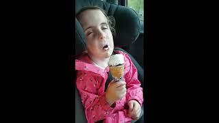 Girl Falls Asleep While Eating Ice Cream - 985960