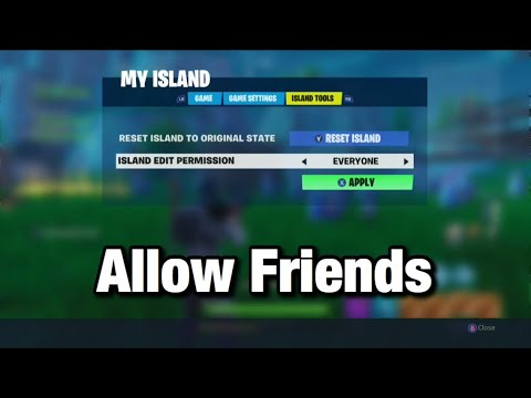 How To Allow Your Friends To Build In Creative Mode Fortnite Battle