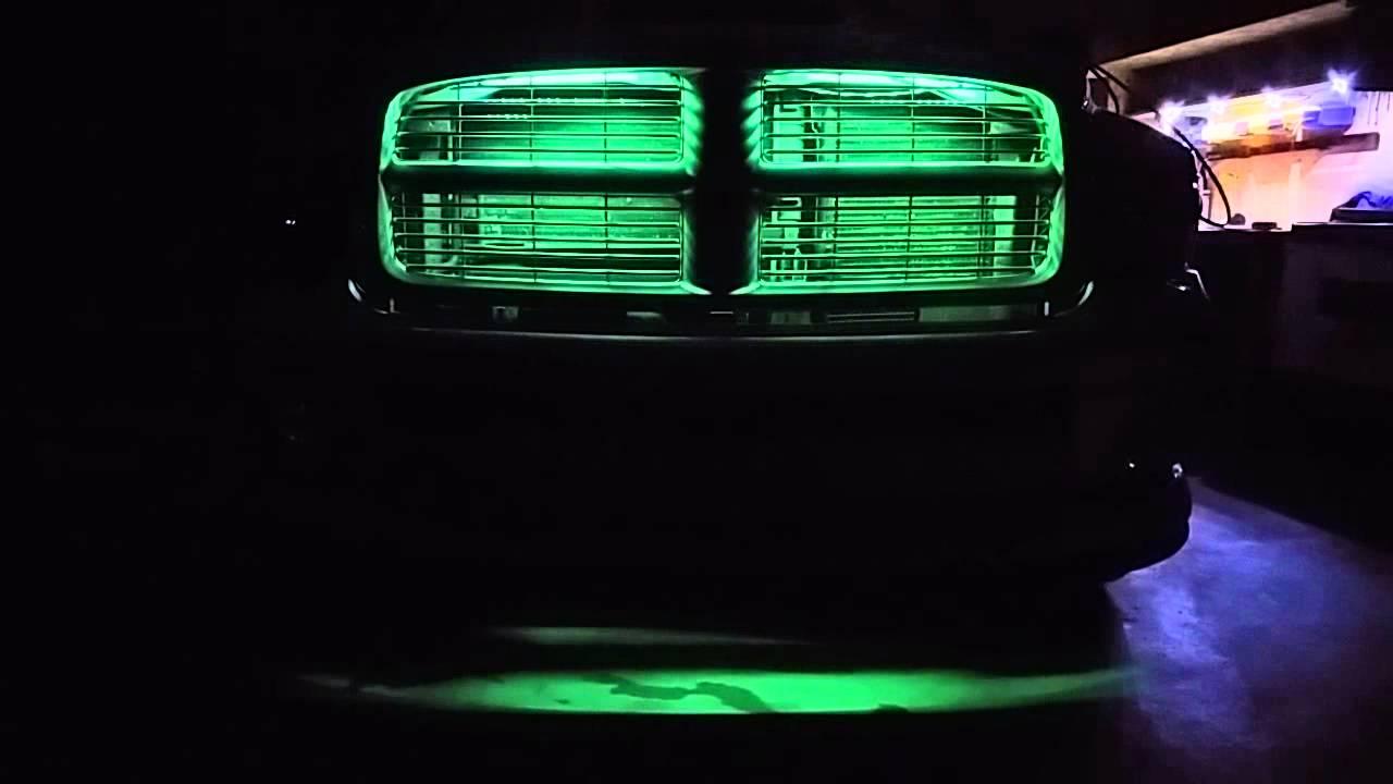 Grill Lights On 2005 Dodge Ram Youtube