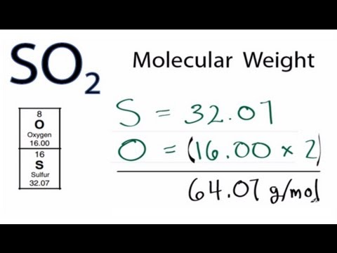 So2 molecular weight molar mass youtube urtaz Choice Image
