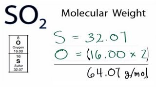 SO2 Molecular Weight (Molar Mass)