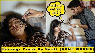 क्या सोते वक़्त Swati के काटे बाल ? ✂️😱 | Revenge On Swati ? | Kalol Pranks