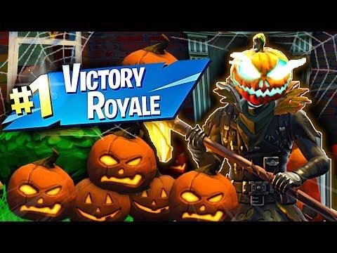 New HOLLOW HEAD Skin Gameplay in Fortnite Battle Royale Halloween Skins