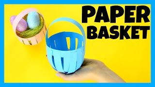 How to Make a Paper Basket - Easter paper craft idea
