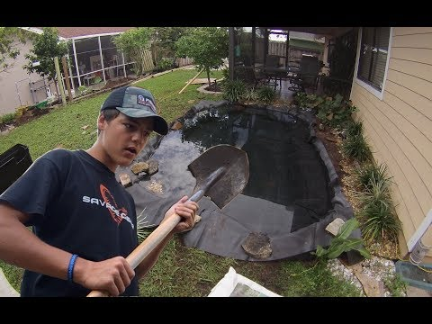 I'm BUILDING a MASSIVE POND in my BackYard! Part 1 & 2