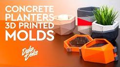 3D Printed Concrete Planter Mold / Anet A6 / Molde Maceteros de Cemento impresos en 3D