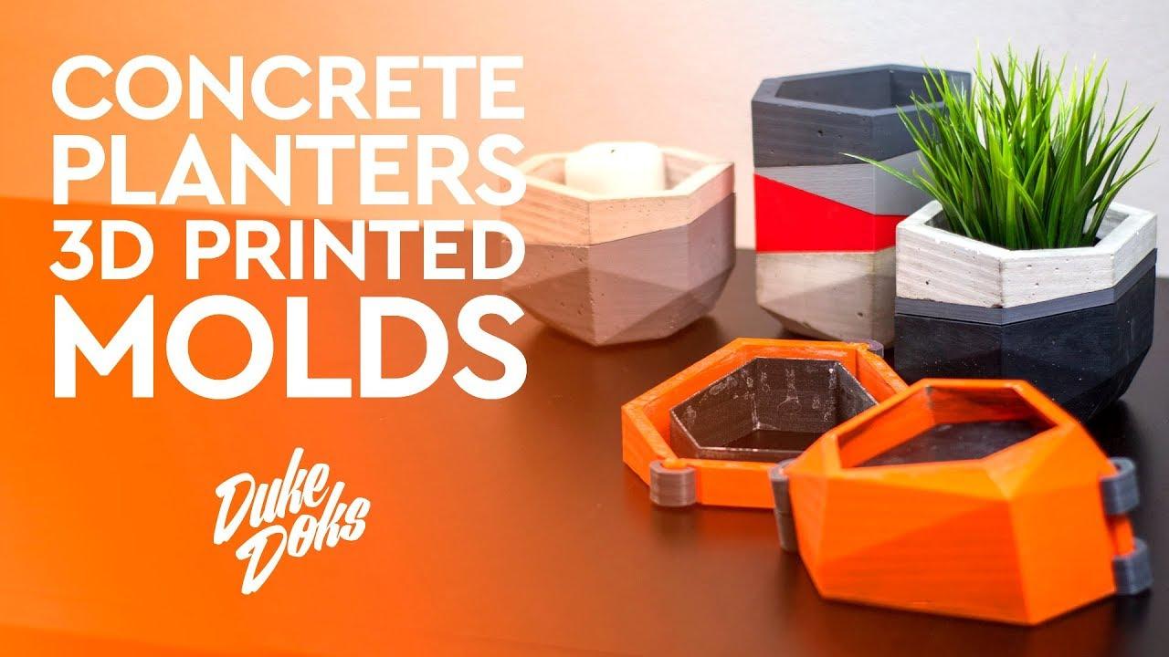3d Printed Concrete Planter Mold Anet A6 Molde Maceteros De