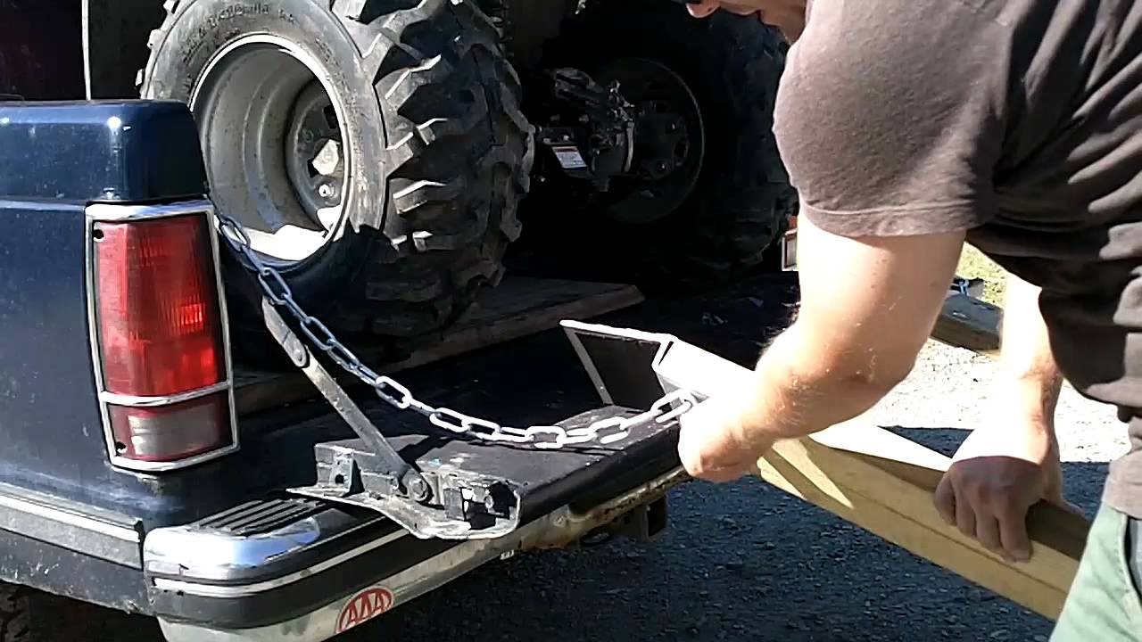 Diy atv lawnmwer loading ramps youtube solutioingenieria Image collections