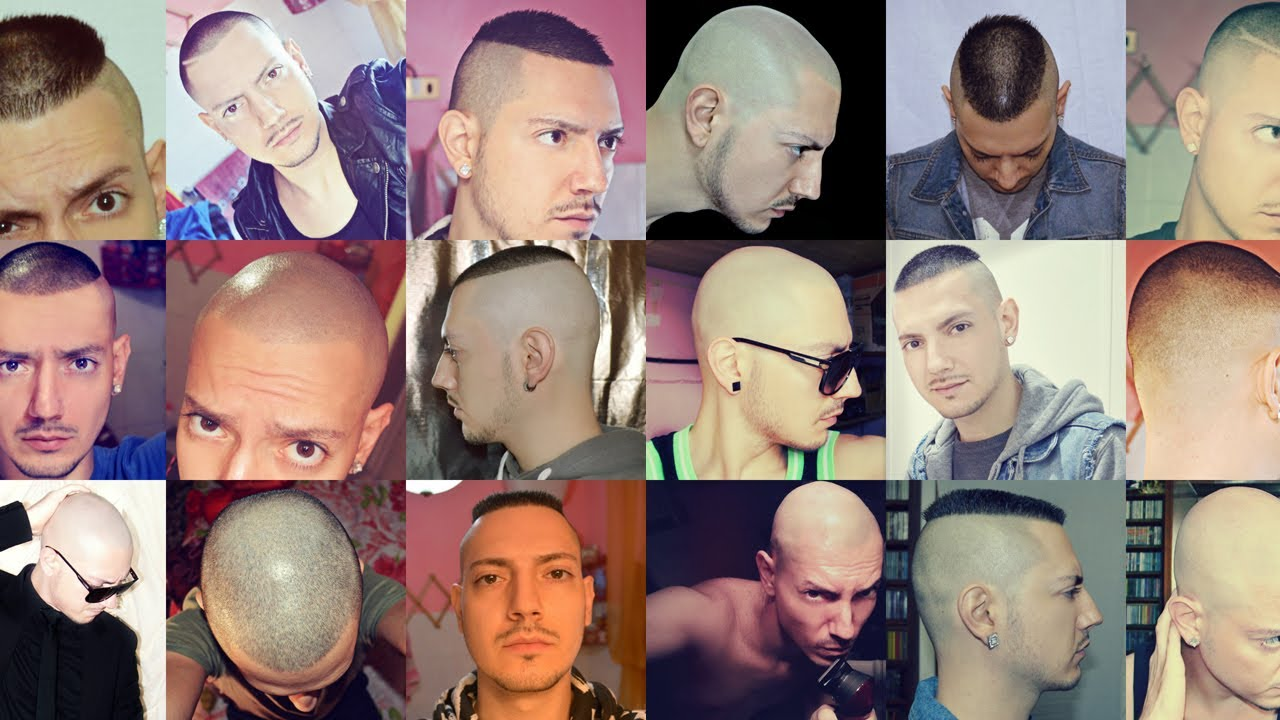 Haircut one-year-story (skin fade, bald, high & tight)