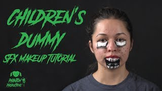 DUMMY CHILD LOOK FOR HALLOWEEN - Makeup tutorial