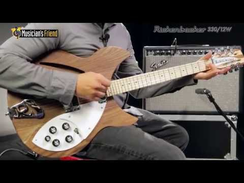 Rickenbacker 330/12W Electric 12-String Guitar, Natural Walnut