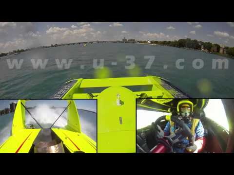 2010 APBA Gold Cup: 3-way view of U-37 crash