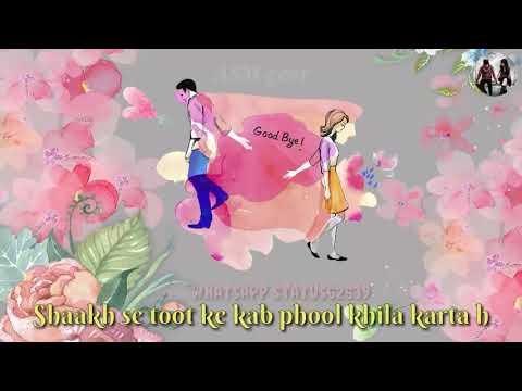 Aaina Toot ke  kab Phir Se Juda karta hai shauk se totke kab Phool Khila karta hai whatsapp status