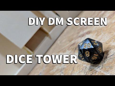 D&DIY Custom DM Screen Dice Tower