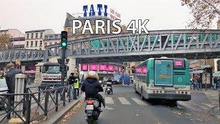Paris 4K - Nightlife Neighborhood Drive