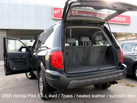 2005 Honda Pilot EX-L 4wd suv for sale in winnipeg - YouTube