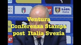 Italia Svezia 0 0 (13 11 17) conferenza stampa Giampiero Ventura