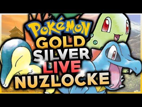 Pokémon Gold & Silver 3DS (VC) LIVE NUZLOCKE CHALLENGE! w/ HDvee