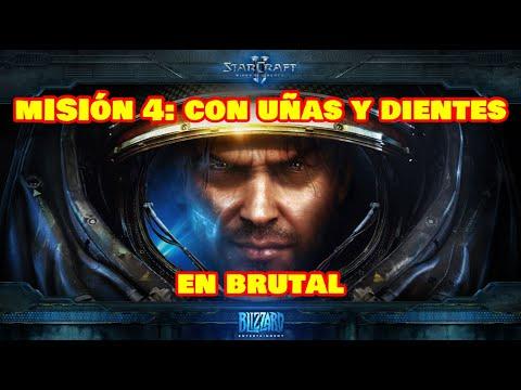 StarCraft 2: Wings of Liberty [Misión 4] Con uñas y dientes [en brutal] [español] [1080p]