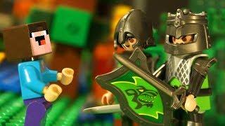 ОГРОМНЫЙ ЗАМОК PLAYMOBIL и Лего НУБик Майнкрафт Мультфильмы для Детей - LEGO Animation