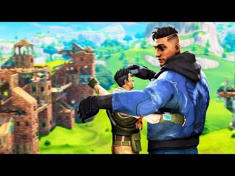 My Random Duo And I Accidentally Joined A Scrim (Fortnite Battle Royale) thumbnail