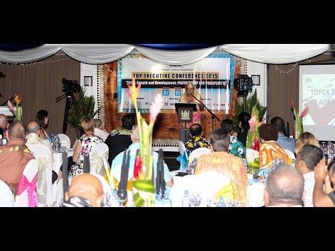 Fijian President, HE Ratu Epeli Nailatikau officially closes the TopEx Conference 2015.