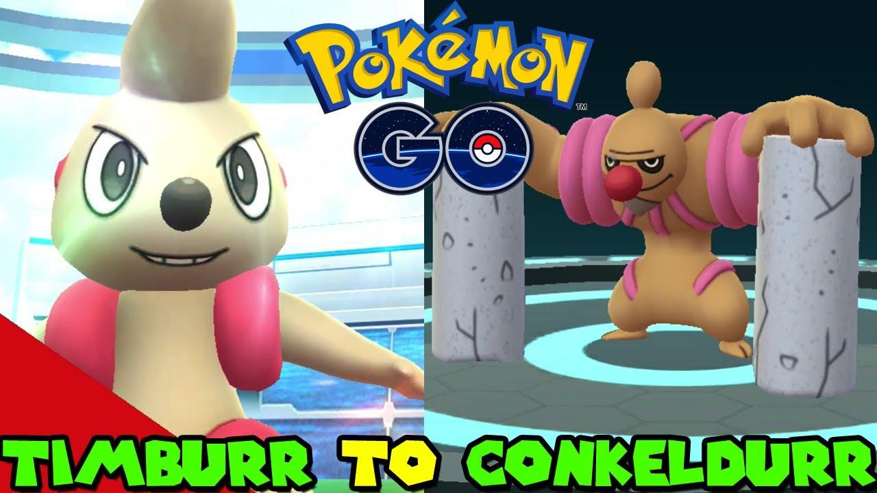 Evolving Timburr To Conkeldurr In Pokemon Go Youtube Possible reward from gingery jones. conkeldurr in pokemon go
