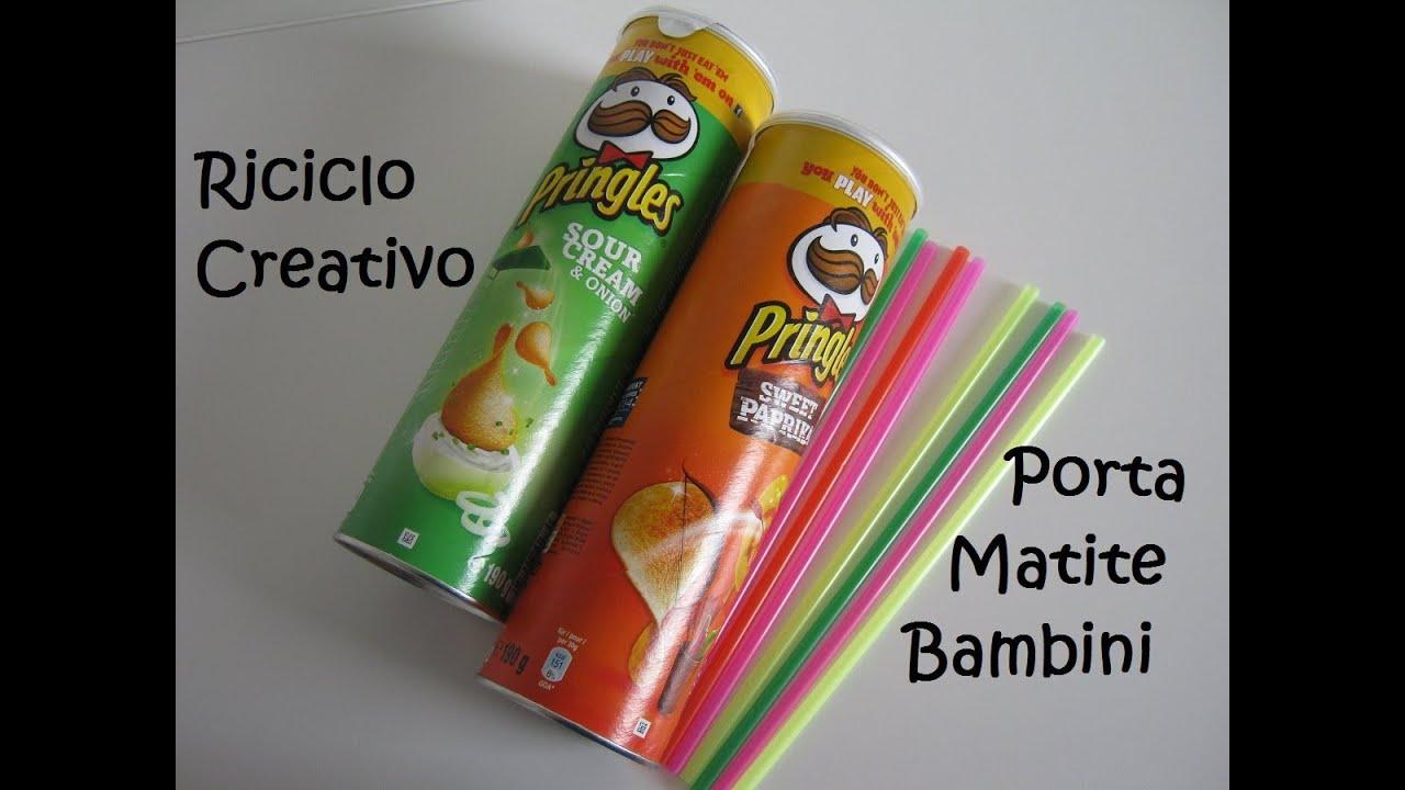 abbastanza Riciclo Creativo: Porta Penne - Tubi Pringles e Cannucce || Mami  NU69