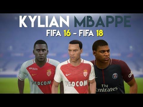 Kylian Mbappe | FIFA 16 - FIFA 18 (Ingame Face, Skills, Stats, Shots, Passes, Goals, Etc)