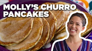 Molly Yeh Makes CHURRO Pancakes with Sweet Milk Glaze | Food Network