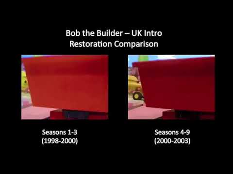 Bob the Builder UK intro Restoration comparison