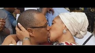 WOW! Tope Alabi Kissed Her Husband So Passionately At His Surprise Birthday Party In Their New House