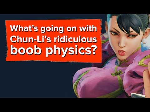 What's going on with Chun-Li's ridiculous boob physics?