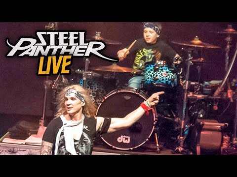 HOT FOR TEACHER, LIVE - Steel Panther & Avery Drummer Molek (10 year old drummer) (Drum Cover)