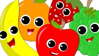 Five Little Fruits Jumping On The Bed | Fruits Song | Nursery Rhymes & Baby Songs By Oh My Genius