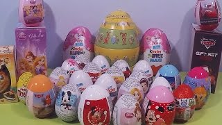 30 Surprise Eggs Easter Oua Kinder cu Surprize Disney Princess Giocattoli Hello Kitty Cars Barbie