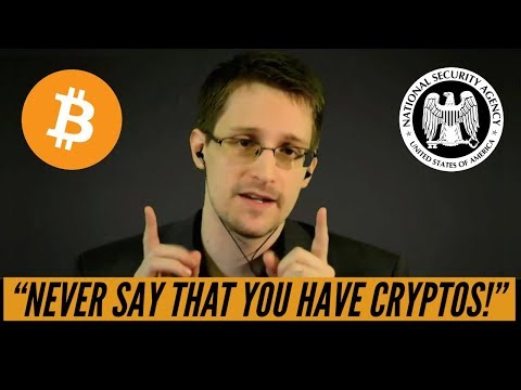 """Edward Snowden Recommends: """"Never Say That You Have Cryptocurrencies!"""""""