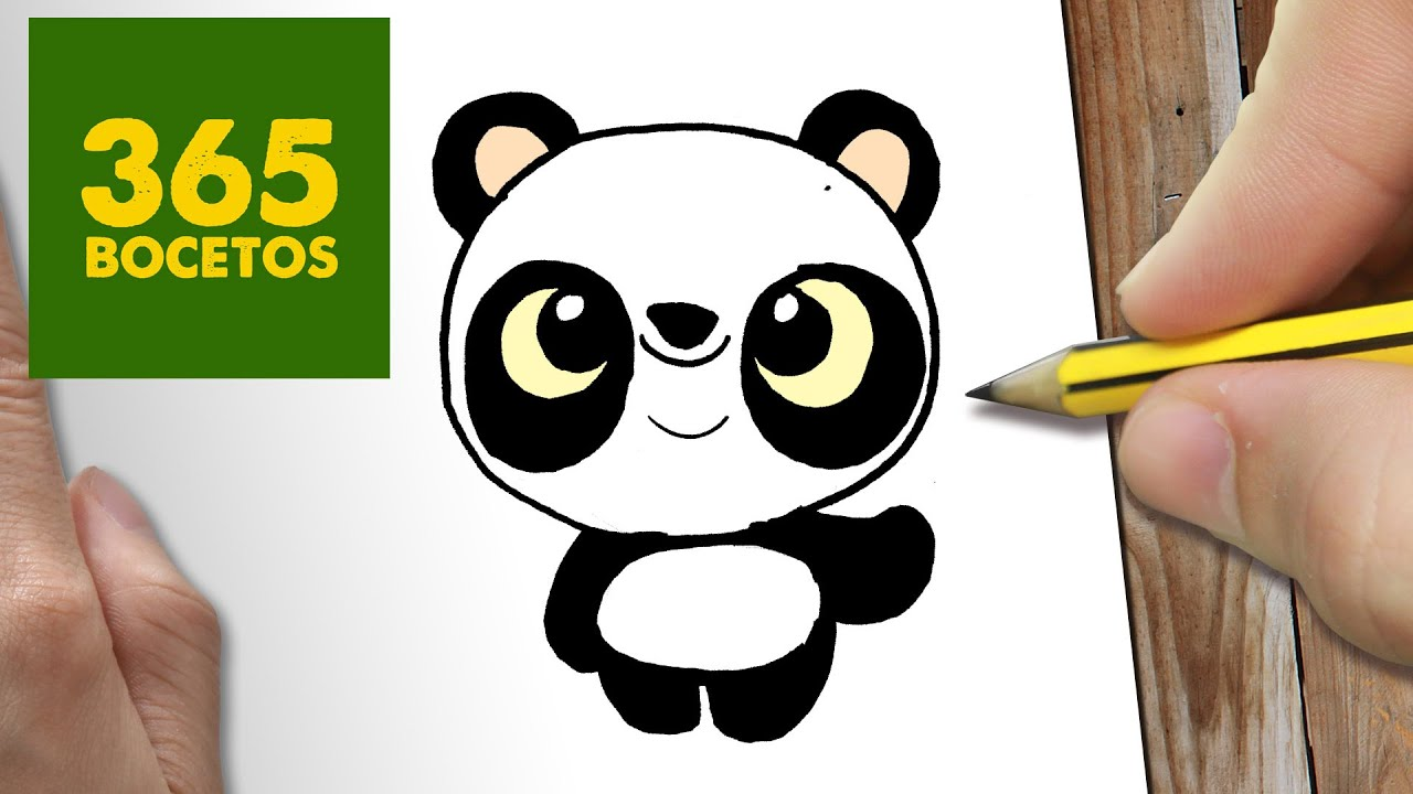 COMO DIBUJAR PANDA KAWAII PASO A PASO , Dibujos kawaii faciles , How to draw a PANDA